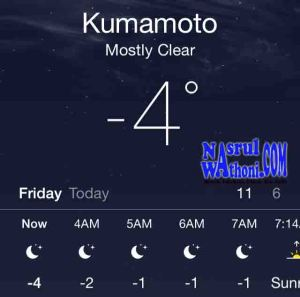 suhu di kumamoto jepang