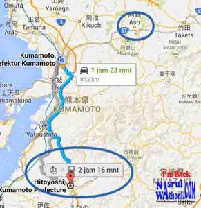 peta aso dan hitoyoshi