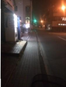 Sambil mengayuh Sepeda pulang ke apartemen untuk beristirahat